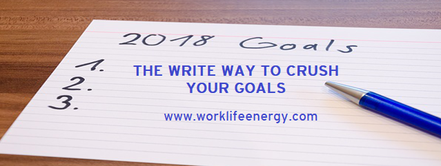 Success-Energy Lab: The Write Way to Crush Your Goals