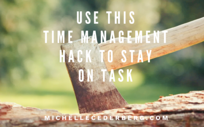 Use This Time Management Hack to Stay on Task