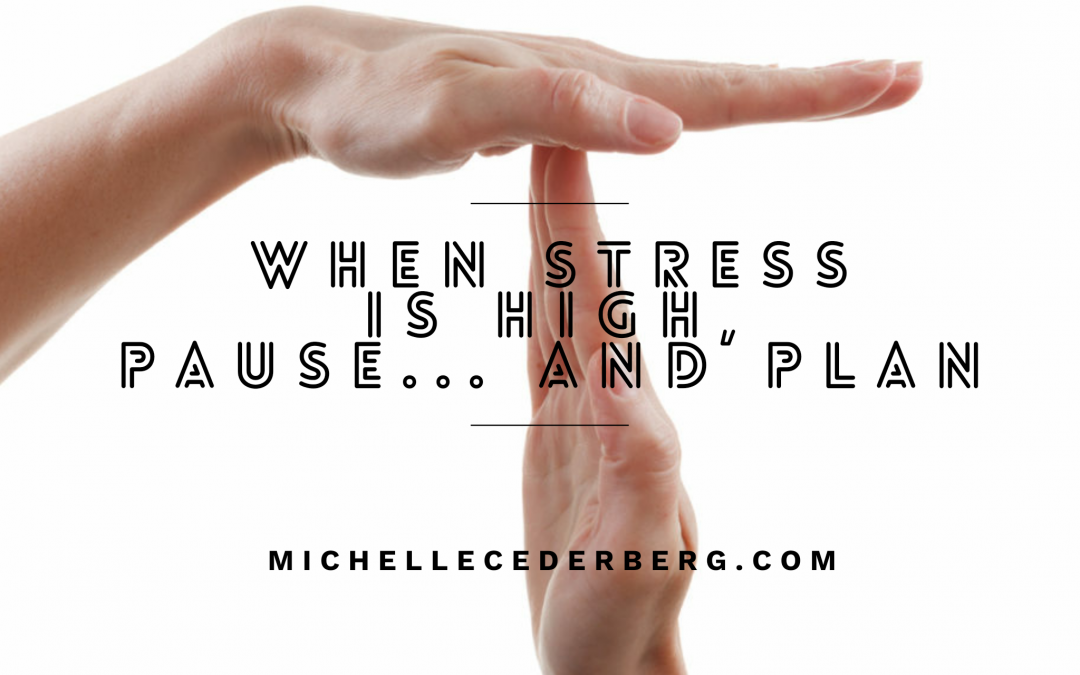 When Stress is High, Pause… and Plan
