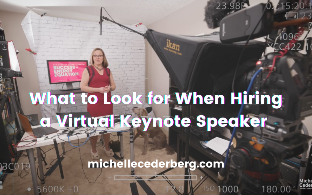 What To Look for When Hiring a Virtual Keynote Speaker